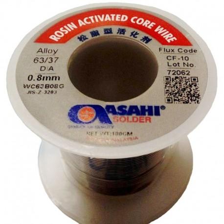 سیم لحیم 0.8 میلی متر 100g گرمی ASAHI