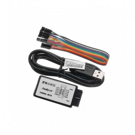 لاجیک آنالایزر USB با بافر 8 کاناله 24M