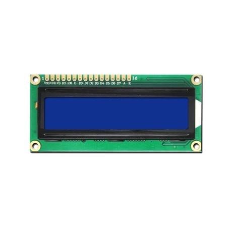 LCD کاراکتری 2*16 بک لایت ابی (JHD162A)