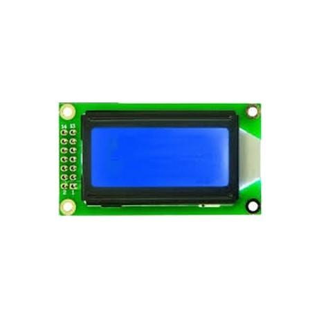 LCD کاراکتری 2*8 بک لایت ابی