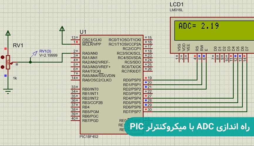 راه اندازی ADC با میکروکنترلر PIC